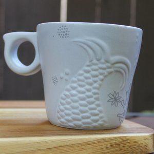 Starbucks Embossed Mermaid Siren Tail Mugs Gray